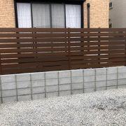 フェンス ウッドフェンス 人工木材 施工