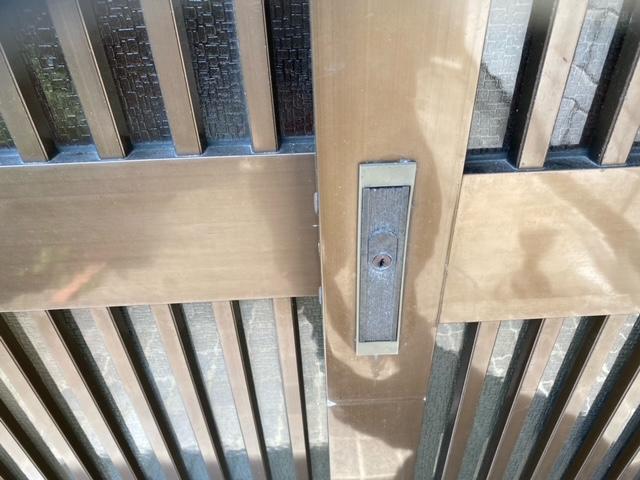 玄関引戸 鍵交換