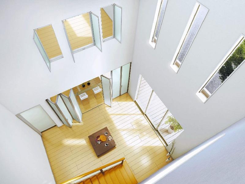 室内建具 室内窓 採光ユニット 両開き窓