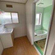 リフォーム ユニットバス 洗面化粧台 施工