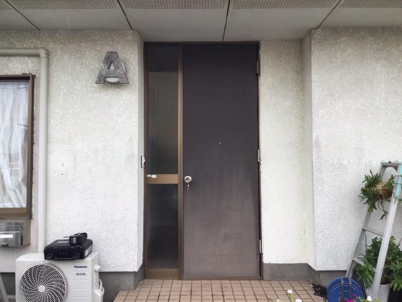 リフォーム リシェント玄関ドア 施工前