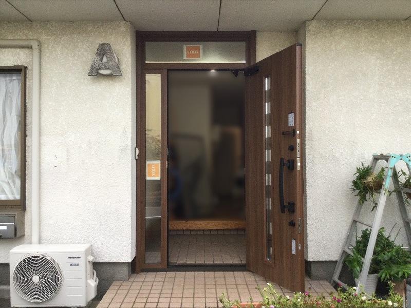 リフォーム リシェント玄関ドア 施工後