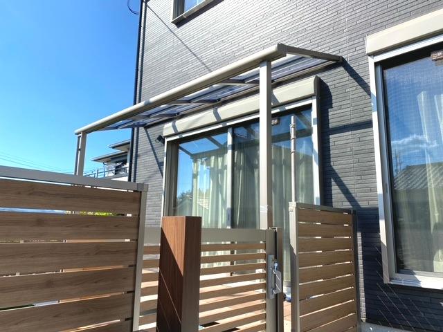 テラス 屋根 施工